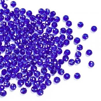 Кришталева намистина кругла 6 мм синя