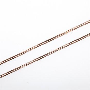 Ланцюг мідного кольору дрібний панцирний 2х3,2х0,5 мм
