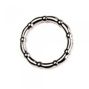Пластиковое кольцо под металл, мельхиор, 23 мм