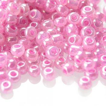 Бісер круглий, дрібний, рожевий. Калібр 12 (1,8 мм)
