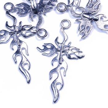 Кулон металевий хрест