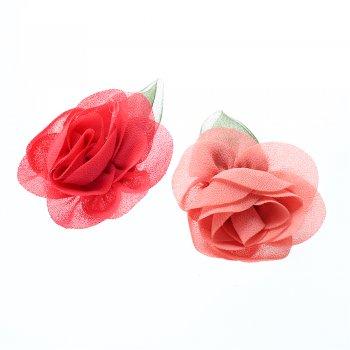 Текстильні квіти. Рожевий. Діаметр 50 мм.