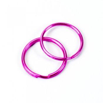 Кольцо для брелка 28 мм розовое