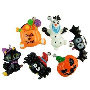"""Підвіска з полімерної глини мікс форм """"Halloween"""""""