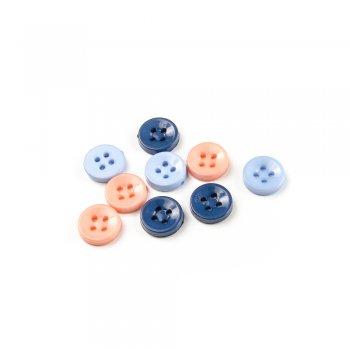 Пуговицы пластиковые, микс цветов, 12 мм