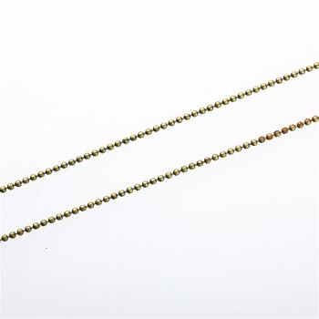 Ланцюг з цільними ланками, бронзовий. Калібр 1,5 мм, ширина ланки 1,5 мм, довжина ланки 1,5 мм