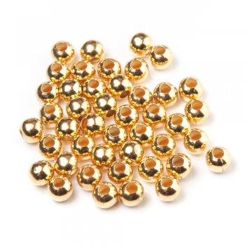 Металеві литі намистини. Золотий. Розмір 10 мм.