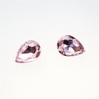 Стрази скляні вставні. Рожевий. 14х10 мм
