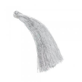 Текстильные кисточким серебристые