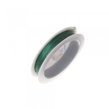Резинка силиконовая тонкая, изумрудная, 0,5 мм