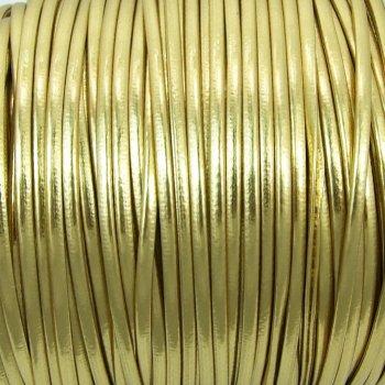 Шнур золотистый глянцевый кожзам 1,5 мм