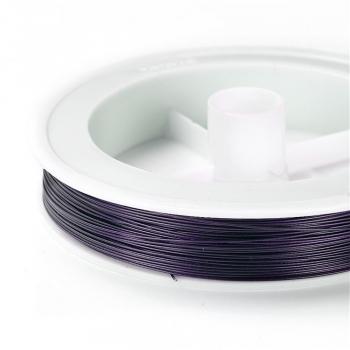 Металева волосінь. Фіолетовий. 0,45 мм.