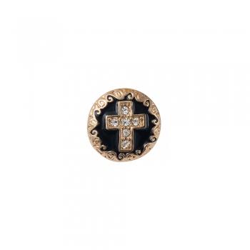 Бусина кнопка круглая Крест