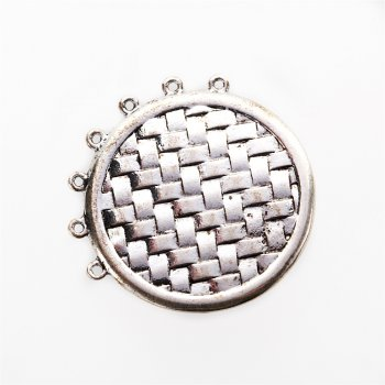 Кулон металлический сетка