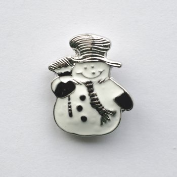 Бусины SNAP Снеговик