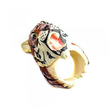 """Пластиковое кольцо """"Тигр"""""""