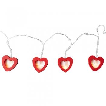 Гирлянда Сердце красное LED 2 метра
