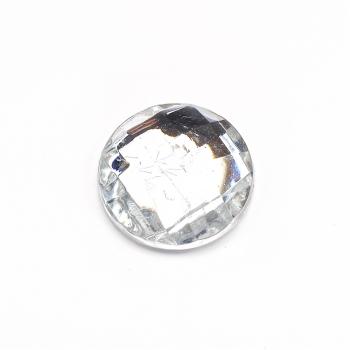 Стрази клейові пластикові 18 мм прозорі уп. 5шт