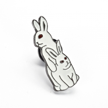 Значок пин Кролики