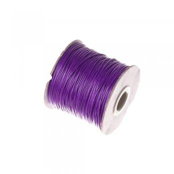 Плетений шнур фіолетовий, бавовна, 1 мм