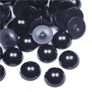 Жемчужные полусферы черные