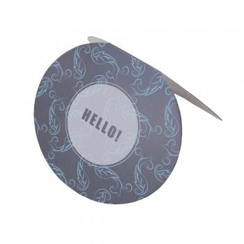 Листівка овальна Hello