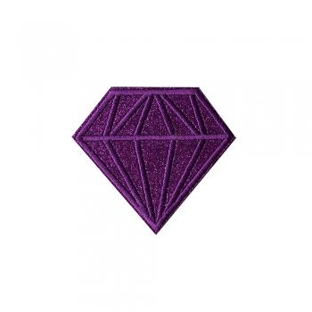 Тканевая нашивка Бриллиант Фиолетовый