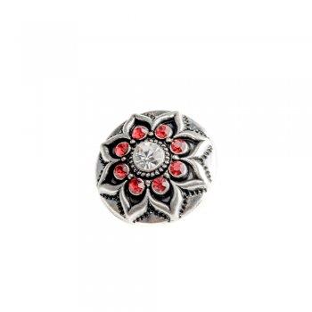 Намистина SNAP Яскраво-червона квітка