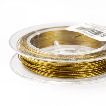 Металлическая леска. Зеленовато-золотой. Диаметр 0,38 мм.