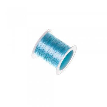 Резинка силіконова тонка блакитна 0,5 мм