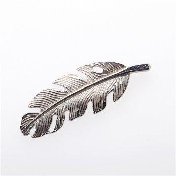 Кулон металлический в виде пера