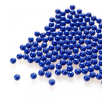 Скло однотонне повного фарбування. Синій. Діаметр 8 мм.