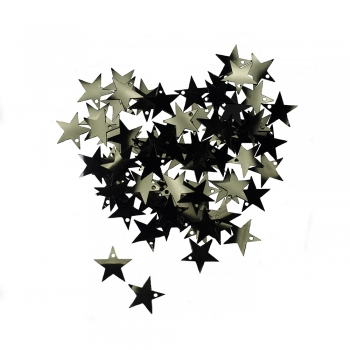 Паєтки зірка 16мм (0,005кг) чорні