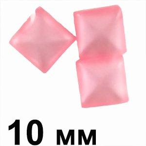 Пластиковые кабошоны розовый квадрат 10 мм глаз