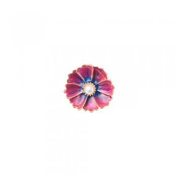 Намистина кнопка квітка 8-пелюсткова малинова
