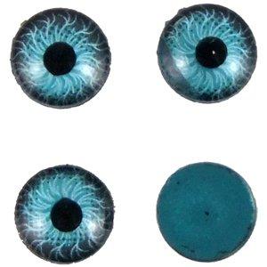 Пластиковые глазки бирюзовый, черный 5 мм