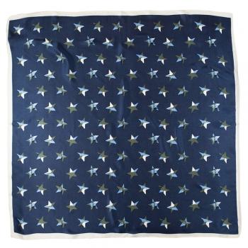 Платок 70х70 см со звездами синий