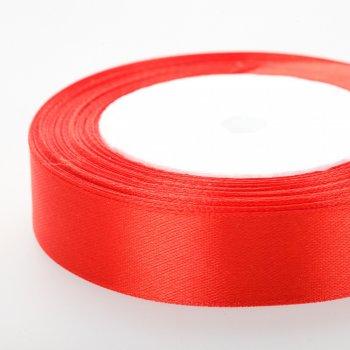 Атласна стрічка. Червоний. 20 мм.