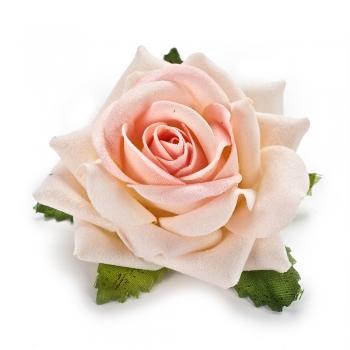 Штучна квітка Троянда кремова