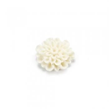 Пластиковые клеевые элементы. Цветок белый