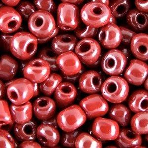Бисер круглый крупный красный