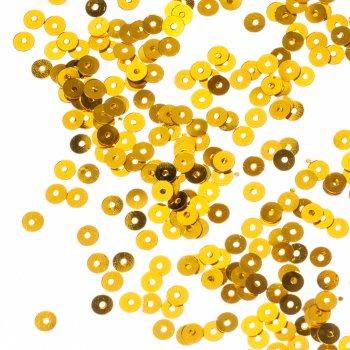 Пайетки светло-золотой 4 мм