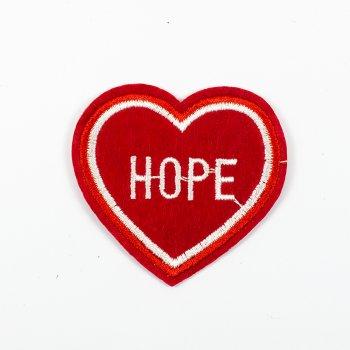 Тканевая нашивка Сердце Hope