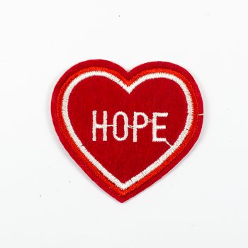 Тканинна нашивка Серце Hope
