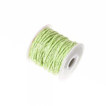 Плетёный шнур зелёный бумажный 3 мм