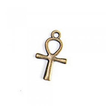 Египетский крест Анкх, металлическая литая подвеска, бронза, 18х15 мм