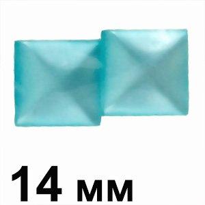 Пластикові кабошони блакитний 14 мм