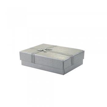 Коробочка картонна подарункова під срібло 9 * 7 * 3 см