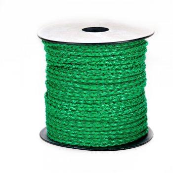 Шнур-кіска зелений шкірзамінник 3 мм