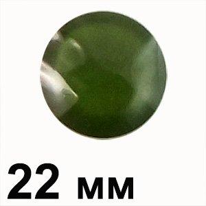 Пластикові кабошони зелений опуклий круг 22 мм